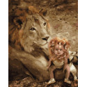 Дитя льва Раскраска картина по номерам на холсте ZX 23877