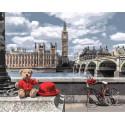 Английское путешествие мишки Раскраска картина по номерам на холсте GX35029