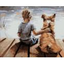 Прогулка с другом Раскраска картина по номерам на холсте PK59104