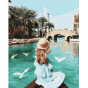 Путешествие в Дубай Раскраска картина по номерам на холсте PK59067