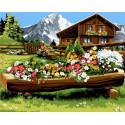 Деревенская клумба Раскраска картина по номерам на холсте GX32156