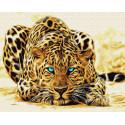 Голубоглазый хищник Раскраска картина по номерам на холсте ZX 23571