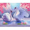 Лебеди Раскраска картина по номерам на холсте ZX 23635