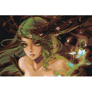 Зелёная фея Раскраска картина по номерам на холсте AAAA-FIR311-80x120