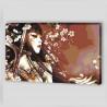 Пример картины в интерьере Меч, бабочка и сакура Раскраска картина по номерам на холсте AAAA-FIR115