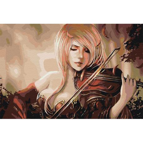 AAAA-FIR116-80x120 Игра на скрипке Раскраска картина по ...
