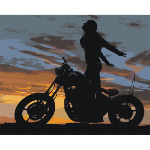 Романтика заката Раскраска картина по номерам на холсте AAAA-M002