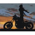 Романтика заката Раскраска картина по номерам на холсте AAAA-M002-80x100