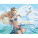 Цветочная фея и бабочки Раскраска картина по номерам на холсте AAAA-FIR118-80x100