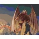 Красный дракон Раскраска картина по номерам на холсте AAAA-GDS114-100x125