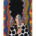 Девушка и пёрышко Раскраска картина по номерам на холсте AAAA-DV01-100x125