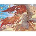 Огненные волосы Раскраска картина по номерам на холсте AAAA-PFIR119-60x80