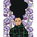 Девушка с сиреневыми цветами Раскраска картина по номерам на холсте AAAA-DV03