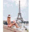 Жаркий парижский день Раскраска картина по номерам на холсте GX36130