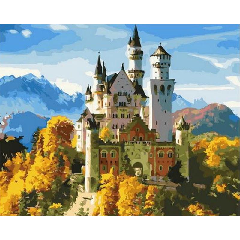 GX36082 Замок под солнцем Раскраска картина по номерам на ...