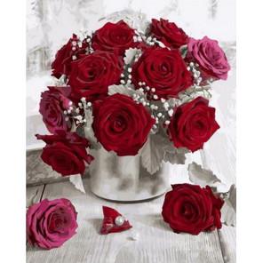 Миниатюрный букет из роз Раскраска картина по номерам на холсте GX36068