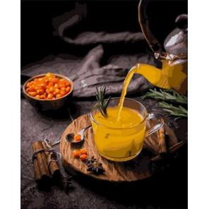 Облепиховый чай Раскраска картина по номерам на холсте GX36059