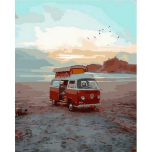 Фургон на диком пляже Раскраска картина по номерам на холсте PK68035