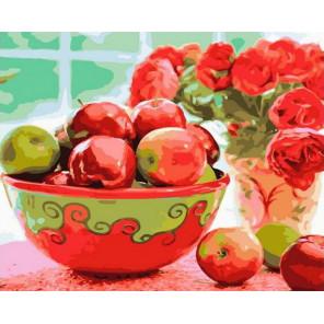Яблочный урожай Раскраска картина по номерам на холсте PK68030