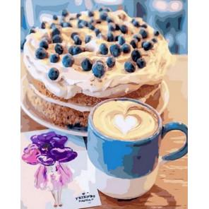 Кофе и воздушный торт Раскраска картина по номерам на холсте PK68024