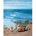 Лови волну Раскраска картина по номерам на холсте PK68015