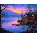 Рыбацкий домик Раскраска картина по номерам на холсте PK68092