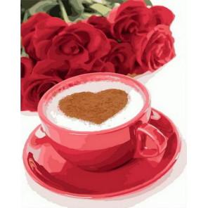 Кофе для любимой Раскраска картина по номерам на холсте PK68085