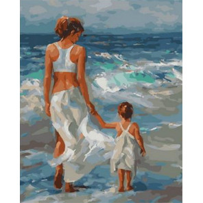 Первая встреча с морем Раскраска картина по номерам на холсте PK68083