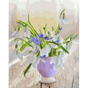 Ранний весенний букет Раскраска картина по номерам на холсте PK68080