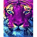 Ярый тигр Раскраска картина по номерам на холсте PK68063