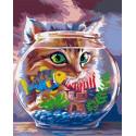 Охотник за рыбкой Раскраска картина по номерам на холсте GX36463