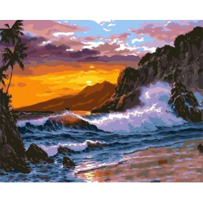Бушующее море Раскраска картина по номерам на холсте GX36450