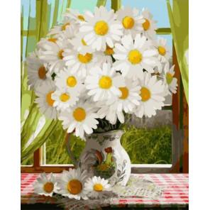 Ромашковое утро Раскраска картина по номерам на холсте GX34984