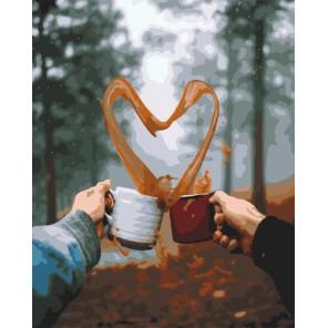 Любовь к кофе Раскраска картина по номерам на холсте GX34849