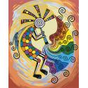 Кокопелли. Этнический бог изобилия Раскраска картина по номерам на холсте AAAA-RS008-100x125