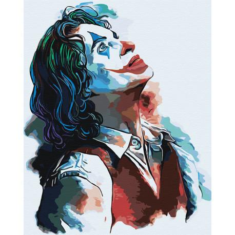 Джокер Раскраска картина по номерам на холсте с неоновыми красками AAAA-RS010