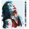 Палитра цветов Джокер Раскраска картина по номерам на холсте с неоновыми красками AAAA-RS010
