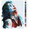 Палитра цветов Джокер Раскраска картина по номерам на холсте с неоновыми красками AAAA-RS010-80x100