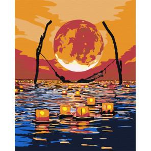 Луна. Одых при свечах Раскраска картина по номерам на холсте AAAA-RS019