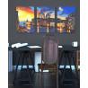 Пример в интерьере Вечерняя Венеция Триптих Раскраска картина по номерам на холсте AAAA-TRIPT005