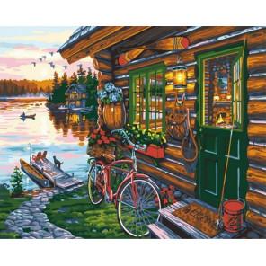 Рыбацкое поместье Раскраска картина по номерам на холсте GX36502