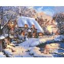Теплая зима Раскраска картина по номерам на холсте GX33782