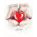 Согревая любовью Раскраска картина по номерам на холсте GX32109