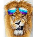 Модный лев Раскраска картина по номерам на холсте ZX 23652
