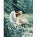 Ангелочек с кроликом Раскраска картина по номерам на холсте ZX 20054
