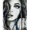 Арт-девушка Раскраска картина по номерам на холсте ZX 23338