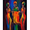 Африканские девушки Раскраска картина по номерам на холсте ZX 23358