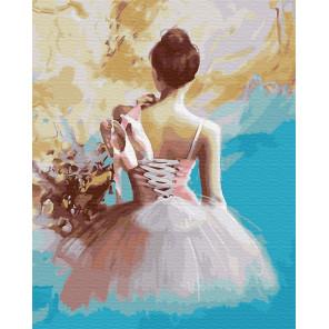 Балерина в розовом Раскраска картина по номерам на холсте ZX 23314