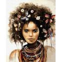Женщина и бабочки Раскраска картина по номерам на холсте ZX 23361