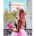 Девушка на балконе Раскраска картина по номерам на холсте ZX 23341